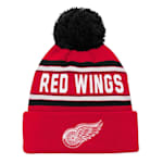 Adidas Detroit Red Wings Youth Pom Knit Hat