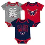 Adidas Washington Capitals Five on Three Baby Onesie 3-Pack - Infant