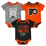 Adidas Philadelphia Flyers Five on Three Baby Onesie 3-Pack - Infant