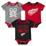 Adidas Detroit Red Wings Five on Three Baby Onesie 3-Pack - Infant