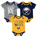 Adidas Buffalo Sabres Five on Three Baby Onesie 3-Pack - Infant