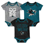 Adidas San Jose Sharks Five on Three Baby Onesie 3-Pack - Infant