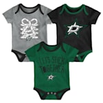 Adidas Dallas Stars Five on Three Baby Onesie 3-Pack - Infant