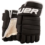 Bauer 4-Roll Team Pro Hockey Gloves - Senior