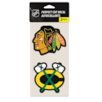 Wincraft NHL Wincraft Perfect Cut Decal - Chicago Blackhawks 2 Pack