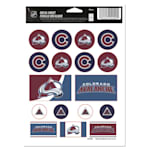 Wincraft Vinyl Sticker Sheet - Colorado Avalanche