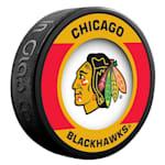 InGlasco NHL Retro Hockey Puck - Chicago Blackhawks