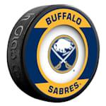 InGlasco NHL Retro Hockey Puck - Buffalo Sabres