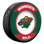 InGlasco NHL Retro Hockey Puck - Minnesota Wild