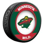 InGlasco NHL Retro Hockey Puck - Minnesota Wild