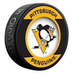 InGlasco NHL Retro Hockey Puck - Pittsburgh Penguins