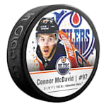InGlasco NHLPA Hockey Puck - Connor McDavid - #97 - Edmonton Oilers