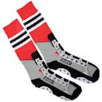 Toe Drag Apparel Chicago Red Shinny Skins Socks - Adult