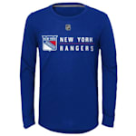 Adidas Deliver A Hit Long Sleeve Tee - New York Rangers - Youth