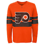 Adidas Philadelphia Flyers Featured Classic Long Sleeve Tee - Youth