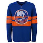 Adidas New York Islanders Featured Classic Long Sleeve Tee - Youth