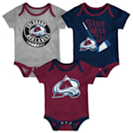 Adidas Colorado Avalanche Cuddle and Play 3-Pack Set - Newborn