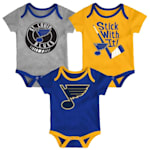 Adidas St. Louis Blues Cuddle and Play 3-Pack Set - Newborn