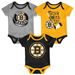 Adidas Boston Bruins Cuddle and Play 3-Pack Set - Infant