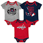 Adidas Washington Capitals Cuddle and Play 3-Pack Set - Newborn