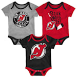 Adidas NJ Devils Cuddle and Play 3-Pack Set - Newborn