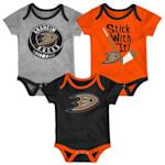 Adidas Anaheim Ducks Cuddle and Play 3-Pack Set - Newborn