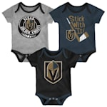Adidas Vegas Golden Knights Cuddle and Play 3-Pack Set - Newborn