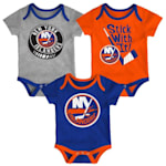 Adidas NY Islanders Cuddle and Play 3-Pack Set - Newborn