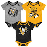 Adidas Pittsburgh Penguins Cuddle and Play 3-Pack Set - Infant