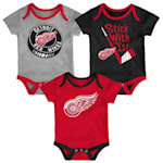 Adidas Detroit Red Wings Cuddle and Play 3-Pack Set - Newborn