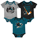 Adidas SJ Sharks Cuddle and Play 3-Pack Set - Newborn