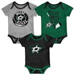 Adidas Dallas Stars Cuddle and Play 3-Pack Set - Newborn