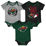 Adidas Minnesota Wild Cuddle and Play 3-Pack Set - Infant