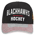 Adidas Chicago Blackhawks Blueline Structured Adjustable Hat - Youth