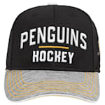 Adidas Pittsburgh Penguins Blueline Structured Adjustable Hat - Youth