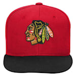 Adidas 2 Tone Flat Brim Hat Chicago Blackhawks - Youth