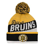 Adidas Boston Bruins Legacy Jacquard Pom Knit Hat - Youth