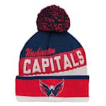 Adidas Washington Capitals Legacy Jacquard Pom Knit Hat - Youth