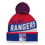 Adidas NY Rangers Legacy Jacquard Pom Knit Hat - Youth