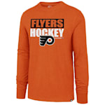 47 Brand Philadelphia Flyers Blockout Long Sleeve Tee - Adult