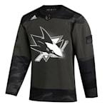 Adidas San Jose Sharks Military Appreciation Jersey - Adult