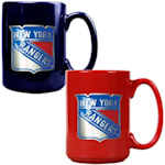 New York Rangers 15 oz Ceramic Mug Gift Set