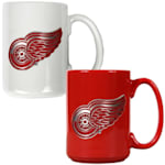 Detroit Red Wings 15 oz Ceramic Mug Gift Set