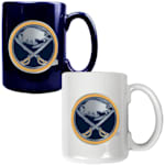 Buffalo Sabres 15 oz Ceramic Mug Gift Set