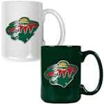 Minnesota Wild 15 oz Ceramic Mug Gift Set