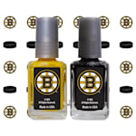 NHL Nail Polish 2 Pack With Decals - Boston Bruins