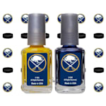 NHL Nail Polish 2 Pack With Decals - Buffalo Sabres