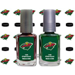 NHL Nail Polish 2 Pack With Decals - Minnesota Wild