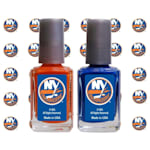 NHL Nail Polish 2 Pack With Decals - New York Islanders
