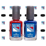 NHL Nail Polish 2 Pack With Decals - New York Rangers